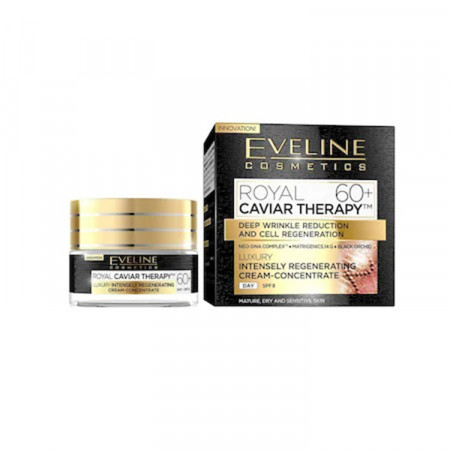 Crema anti-rid Eveline Cosmetics Royal Caviar Therapy 60+