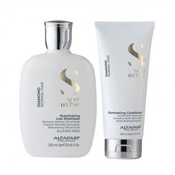 Poze Set Alfaparf Semi Di Lino Diamond Iluminating cu 250 ml Sampon + 200 ml Balsam