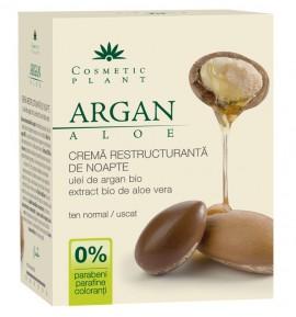 Crema Bio Restructuranta de noapte cu ulei de argan Cosmetic Plant