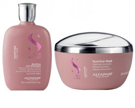 Poze Set Alfaparf Semi Di Lino Moisture Nutritive cu 250 ml Sampon + 200 ml Masca