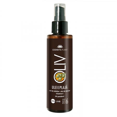 Emulsie pentru plaja SPF 6 cu ulei de masline si morcov Cosmetic Plant