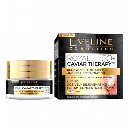 Crema anti-rid Eveline Cosmetics Royal Caviar Therapy 50+