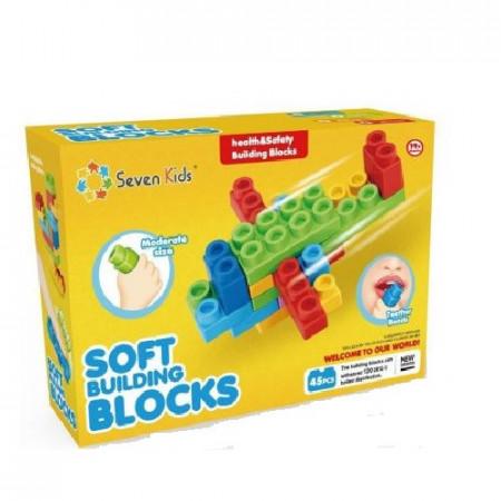 Set 45 piese cuburi moi de constructie pentru bebe