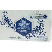 Fiole cu acid hialuronic si vitamina C Gerovital H3 Hyaluronic C