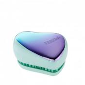 Perie pentru par Tangle Teezer Compact Styler Smooth & Shine Petrol Blue Ombre Chrome