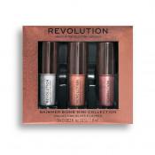 Set Luciu de buze Makeup RevolutionLip Shimmer Bomb Mini Collection