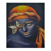 Tablou LED canvas Gold Butterflay cu leduri lumini 64 x 45 cm
