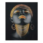 Tablou LED canvas Gold Chain cu leduri lumini 64 x 45 cm