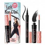 Rimel, Benefit, Lash, Line & Go! Roller Lash, Black, 8.5 g + Eyeliner Roller Liner, Black, 1 ml