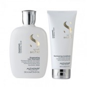 Set Alfaparf Semi Di Lino Diamond Iluminating cu 250 ml Sampon + 200 ml Balsam