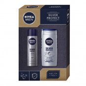 Set cadou Nivea Men Silver Protect