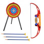 Set tir cu arc pentru copii, 3 sageti cu ventuza, tinta si stativ