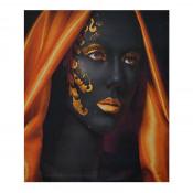 Tablou LED canvas Golden Style cu leduri lumini 85 x 64 cm