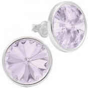 Cercei Crystal Rivoli Round Stone Sterling Silver Crystal Clear