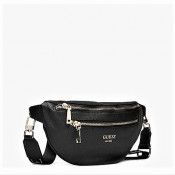 Geanta belt bag Guess, Model Vikky neagra