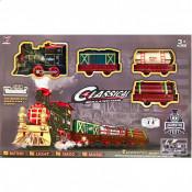 Trenuletul electric Classic, cu lumini, sunete si aburi
