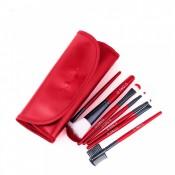 Set 7 pensule profesionale pentru machiaj Red Cherry cu portofel