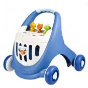 Antepremergator cu cutie de depozitare jucarii ABERO Elantra Baby Walker albastru