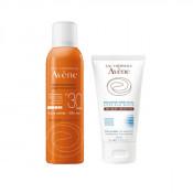 Pachet Avene Spray pentru protectie solara SPF 30, Avene 200 ml + Gel dupa plaja Avene Apres-Soleil 50 ml
