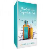 Set Moroccanoil Head to Toe: Ulei de corp, 50 ml si Tratament de par, 100 ml, pentru par inchis