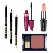 Set Max Factor Seduction Ruj Colour Collections, Blush Flawless Perfection, Mascara pentru alungire, 3 x Creion dermatograf