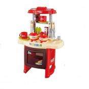 Bucatarie pentru copii Cool Cooking cu accesorii, lumini si sunete, rosie