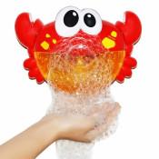 Jucarie de baie Bubble Crab cu difuzor de spuma si muzica