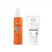 Pachet Avene Spray protectie solara pentru copii SPF 50+, Avene 200 ml + Gel dupa plaja Avene Apres-Soleil 50 ml