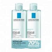 Pachet La Roche -Posay Apa micelara pentru pielea grasa cu tendinta acneica Effaclar Ultra, 400 + 400 ml