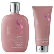 Set Alfaparf Semi Di Lino Moisture Nutritive cu 250 ml Sampon + 200 ml Balsam
