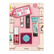 Set, Flyin Hits, Benefit, Blush lichid Benetint, Primer The POREfessional, Bronzer Hoola, Rimel BADgal BANG, Gel defixare sprancene Gimme Brow