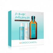 Set Moroccanoil Back To Basic Hydration: Sampon 70 ml, Balsam 70 ml, Tratament 100 ml