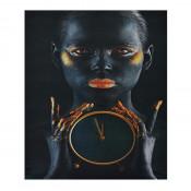 Tablou LED canvas Hand Watch cu leduri lumini 45 x 35 cm
