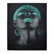 Tablou LED canvas Turquoise Beads cu leduri lumini 85 x 64 cm
