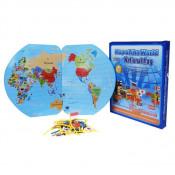 Joc Educational cu Harta Lumii si Steaguri