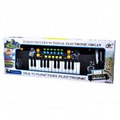 Orga Electronica cu Microfon , Rainbow Piano, Echipata cu 25 taste de pian, Accesorizata cu ritmuri si melodii diferite, Reglarea Volumului