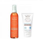 Pachet Avene Ulei pentru protectie solara SPF 30 Avene 200 ml + Gel dupa plaja Avene Apres-Soleil 50 ml