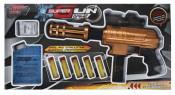 Pusca de jucarie, model blaster Super Gun, cu bile de apa si 5 tinte, 33 cm