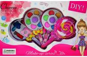 Set de machiaj Charming Star multicolor, cu farduri, rujuri, lac de unghii,pentru fetite