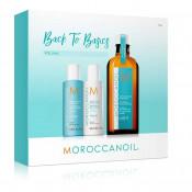 Set Moroccanoil Back To Basic Volume: Sampon 70 ml, Balsam 70 ml, Tratament 100 ml