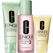Set cadou Clinique 3 Step Skin Care System 3 for Combination/Oily Skin