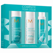 Set Moroccanoil Color Complete pentru par vopsit: Sampon 250 ml, Balsam 250 ml, Spray 160 ml