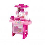 Bucatarie pentru copii Cool Cooking cu accesorii, lumini si sunete, roz
