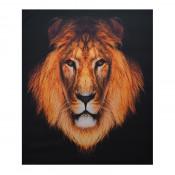 Tablou LED canvas Lion cu leduri lumini 85 x 64 cm