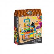Jucarie educativa Banc de lucru cu scule din Cuburi, 61 de piese