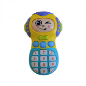 Jucarie interactiva pentru bebelus, , telefon cu sunete si lumini, cu mai multe fete, volum reglabil