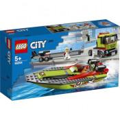 LEGO City Great Vehicles - Transportor de barca de curse 60254