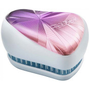 Perie pentru par Tangle Teezer Compact Styler Smooth & Shine Limited Editions Smashed Holo Blue