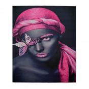 Tablou LED canvas Pink Butterfly cu leduri lumini 85 x 64 cm
