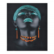 Tablou LED canvas Turquoise Diamonds cu leduri lumini 45 x 35 cm